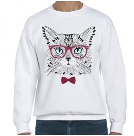 Polerón Gato con gafas