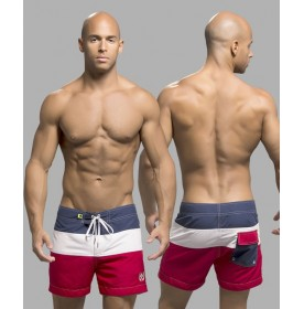 Surfcomber Swim Shorts, Red/White/Nav